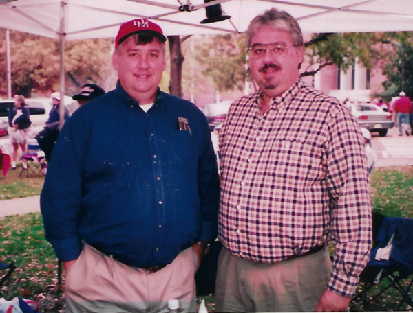 Phillip Herring (right) and his brother Morris.