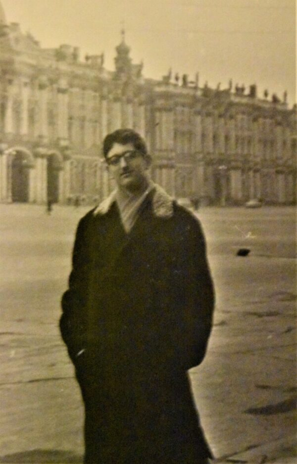 A young Eugene Litvak at the imperial Winter Palace in St. Petersburg.