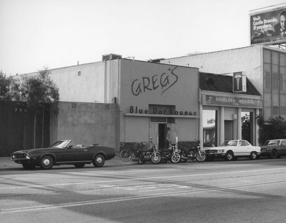 Greg's Blue Dot Lounge, Hollywood, 1980. Bruce Torrence
